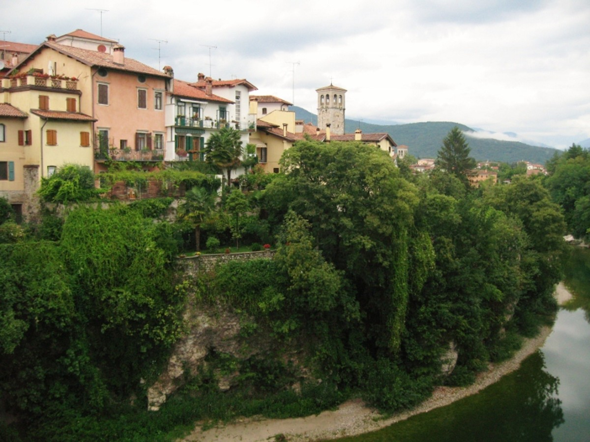 A view of Cividale del Friuli, a small historical town nestled in the Northern Italian region of Friuli.