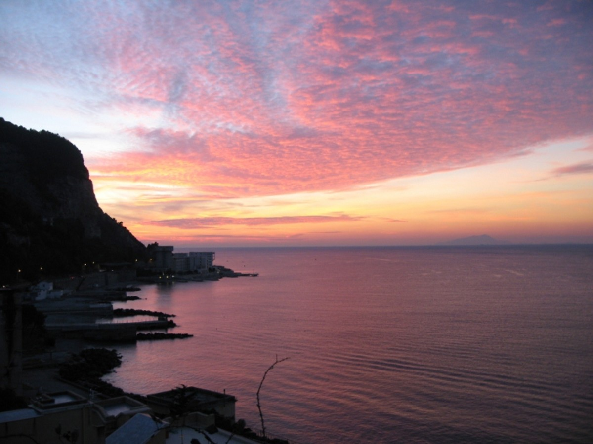 Sunset in Castellamare di Stabia, Naples