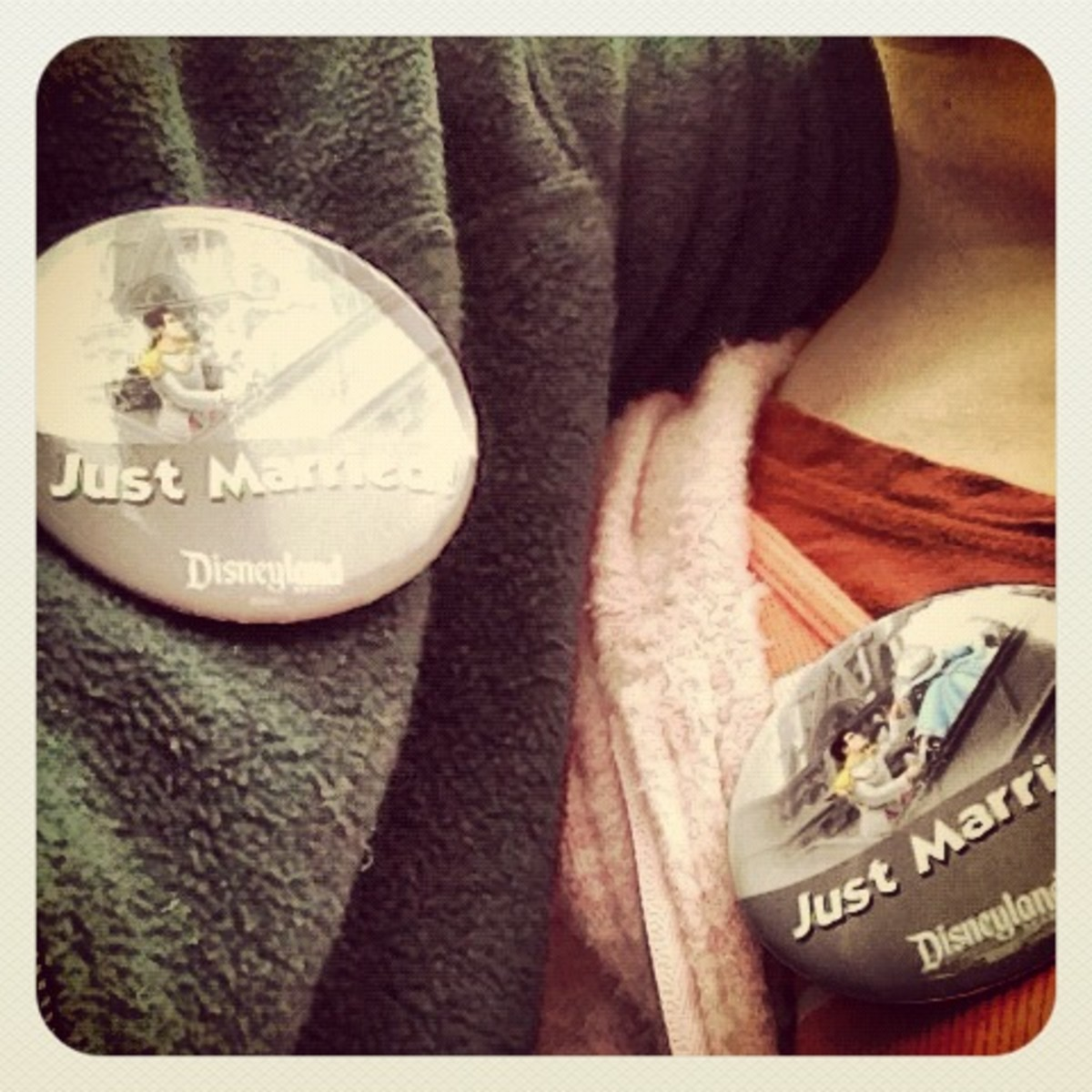 wearing our buttons