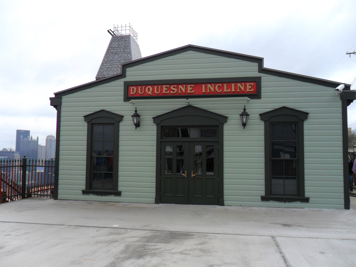 Duquesne Incline, Upper Station (side-view).