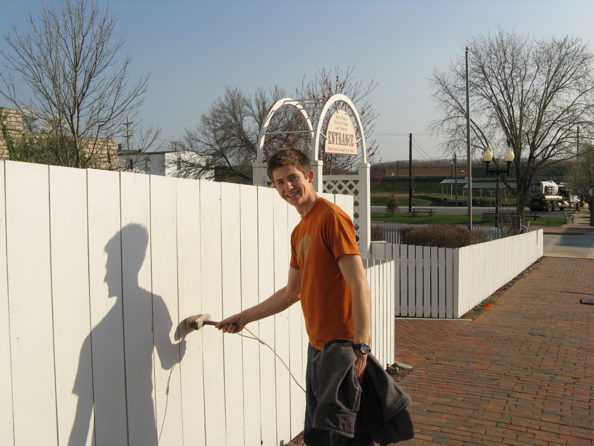 """Try whitewashing the fence yourself--only you must bring a """"treasure"""" with you to pay Tom for the privilege to use his paint and bucket."""
