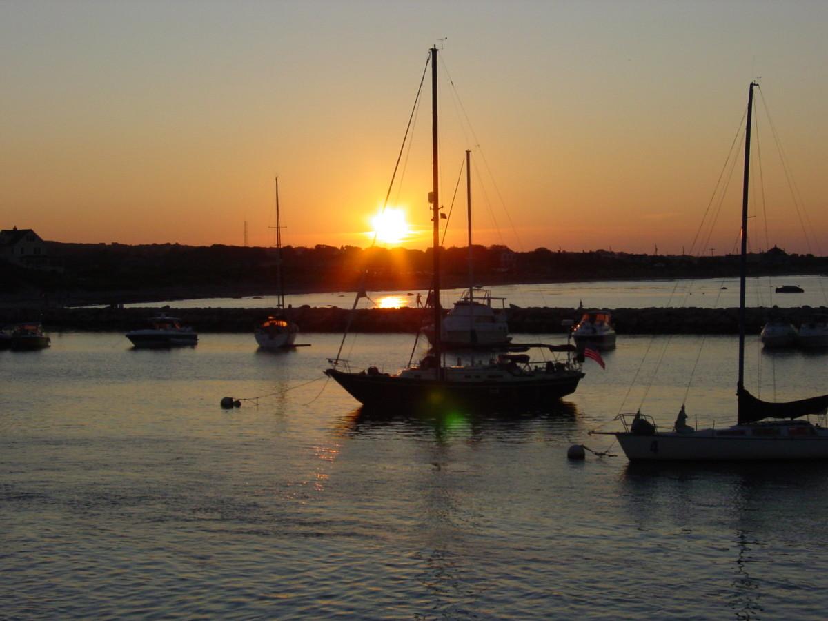 Sunset over Block Island