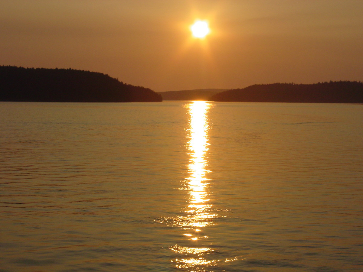What better way to end the day than with a beautiful sunset from the ferry.