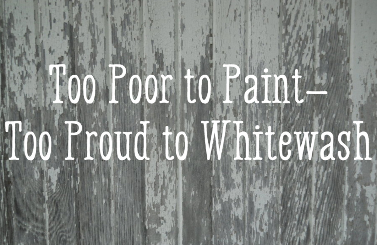 Too poor to paint, too proud to whitewash.