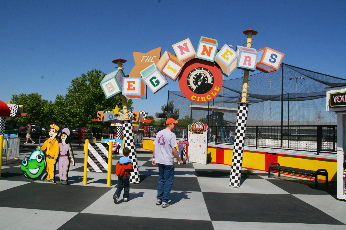 "The entrance to ""Beginner's Circle,"" the area of the park dedicated to young children."