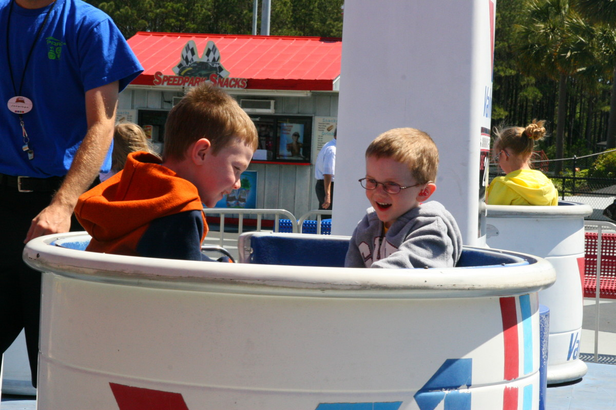 The park was not crowded, so our boys were able to ride each attraction without waiting.