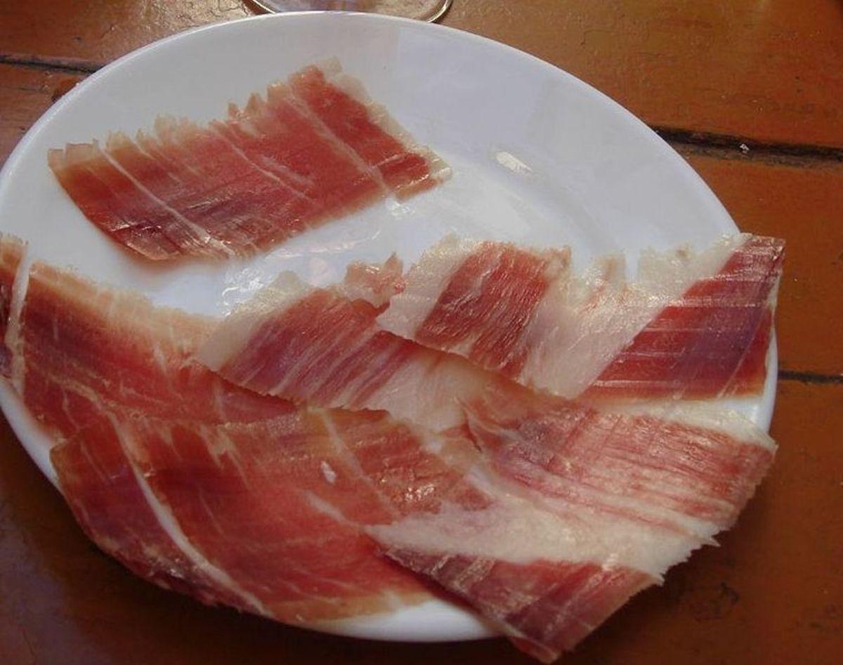 """""""Presunto"""", Portuguese ham."""