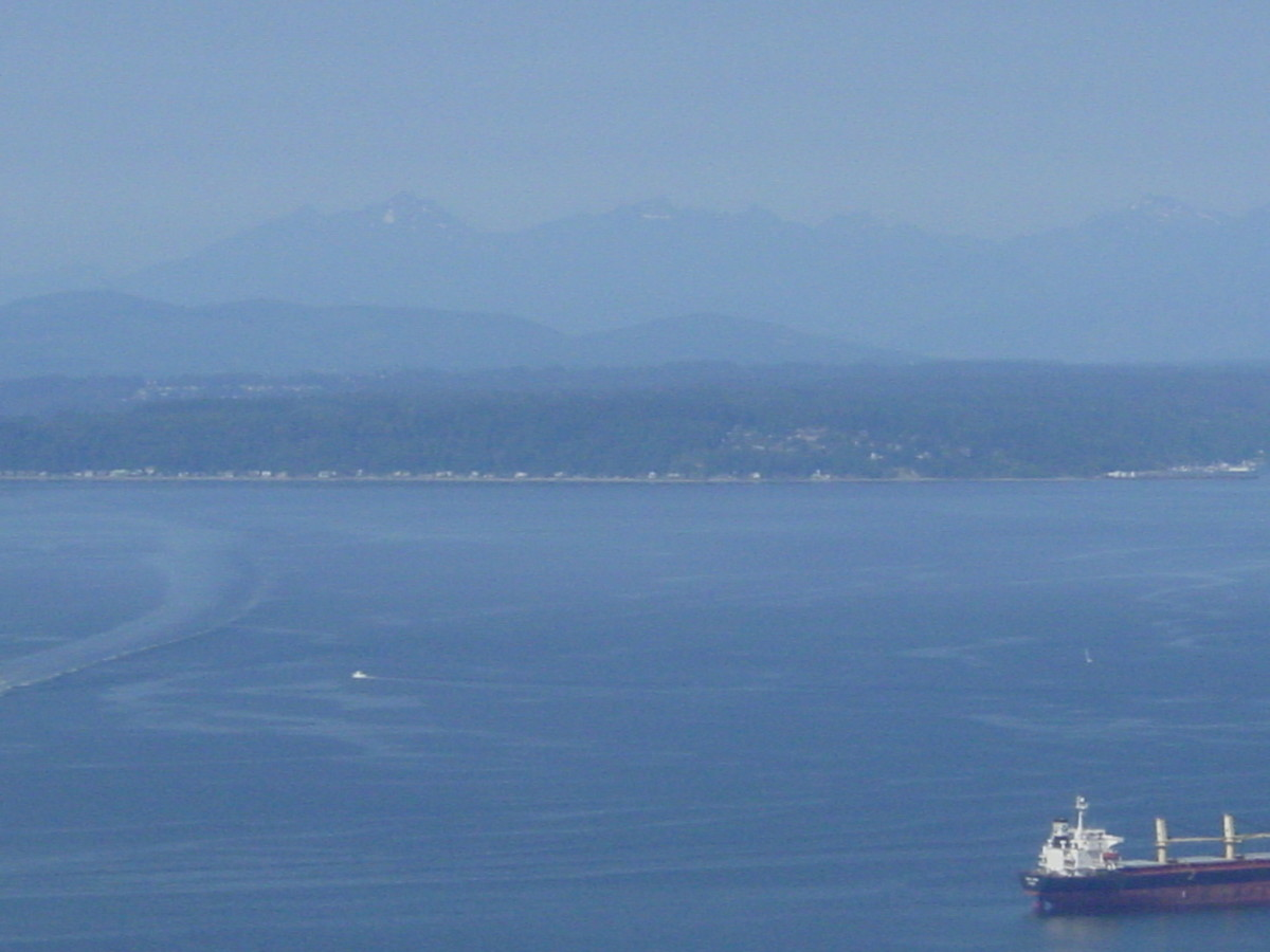 Looking toward the Olympic Peninsula across Puget Sound.