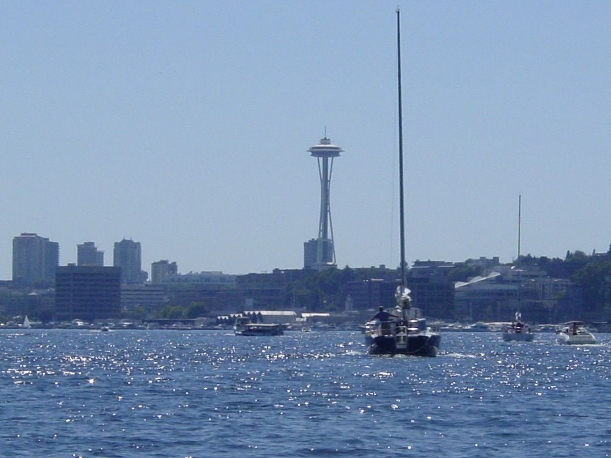 The Space Needle from Lake Washington.