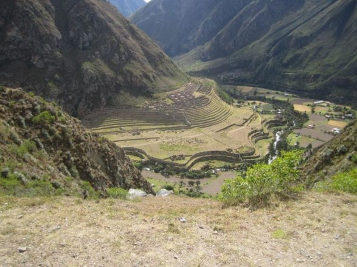 Inca Ruins on the Urubamba River in Sacred Valley
