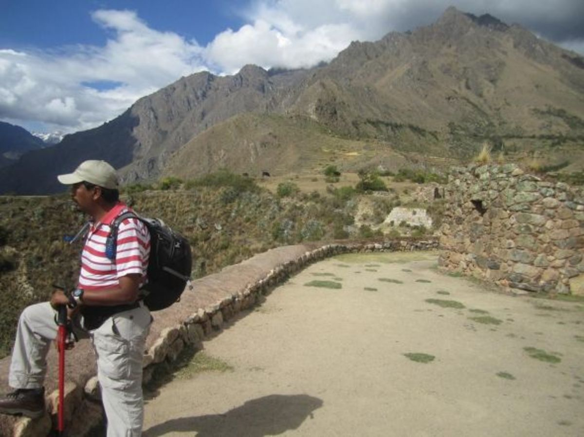 Our guide on the Inca Trail