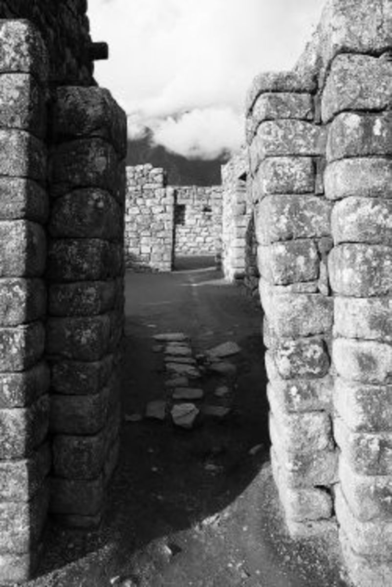 Walls of Machu Picchu