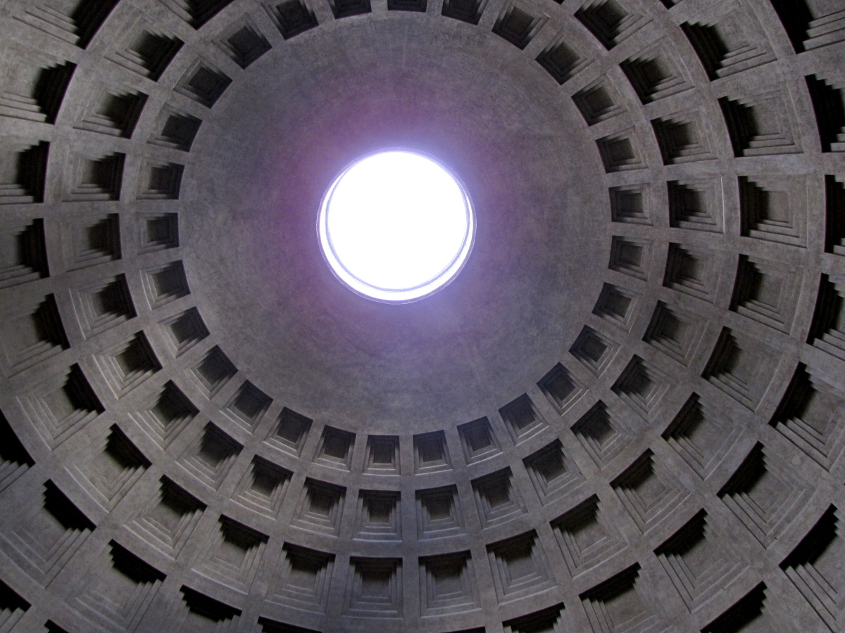 The Oculus with the honeycomb structure of the walls.