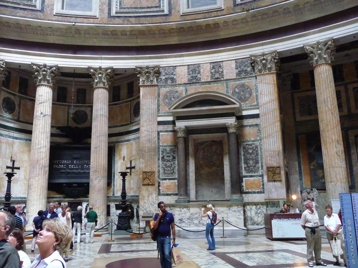 Interior of the Pantheon.