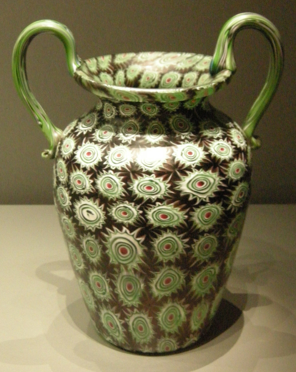 Vase from the glass workshop of the Toso brothers, dated 1890-1900 (Vetreria fratelli Toso, vaso, Murano)
