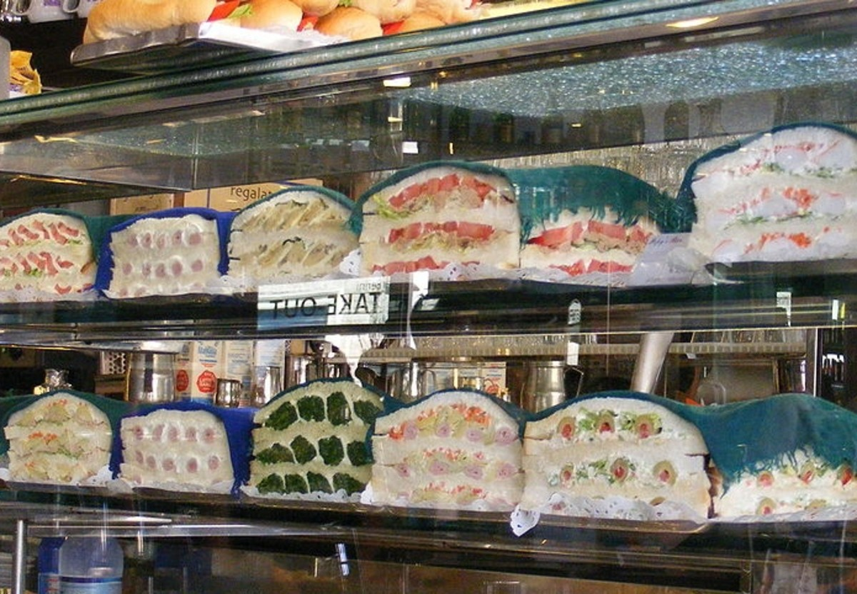This bar's tramezzini display is enough to make your mouth water!