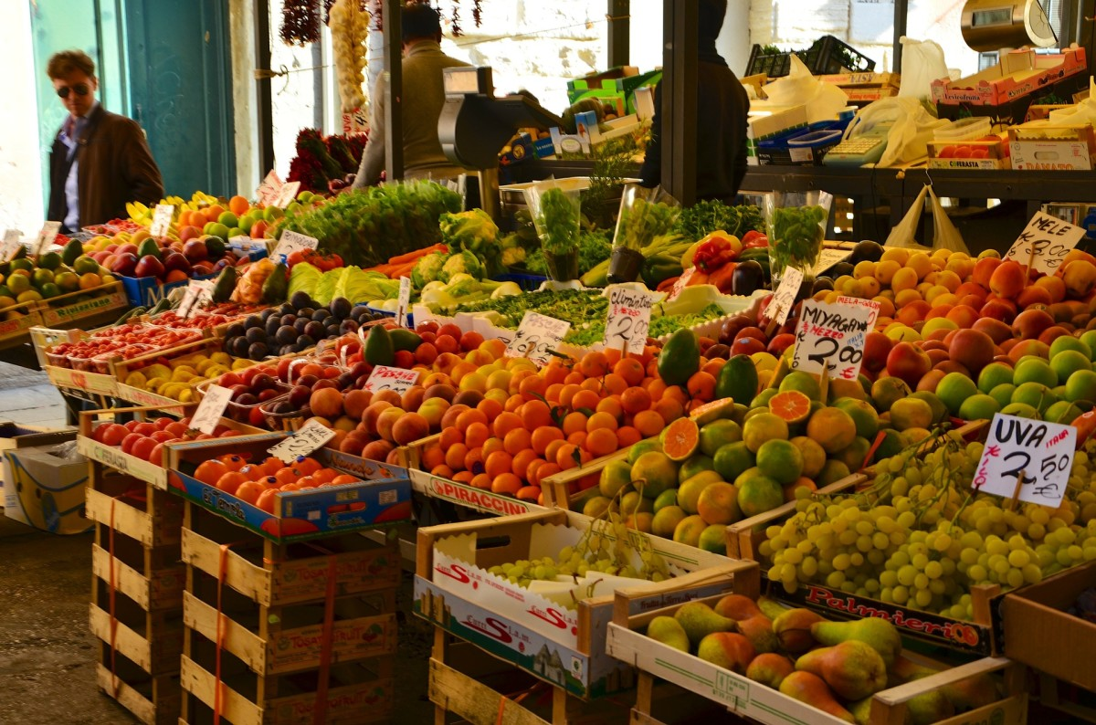 Sampling the fresh produce at the Rialto Market in Venice is a must!