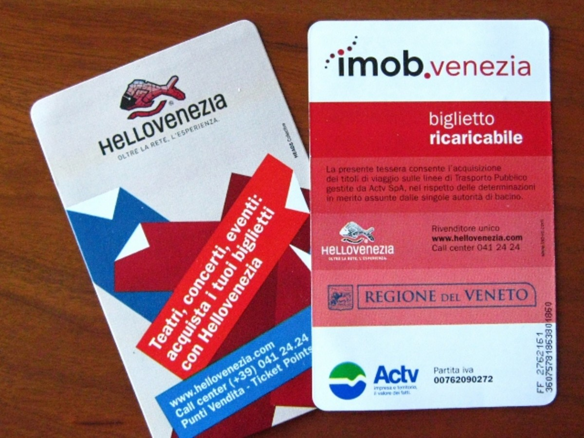 Once in Venice, you can easily purchase daily waterbus (vaporetto) passes.