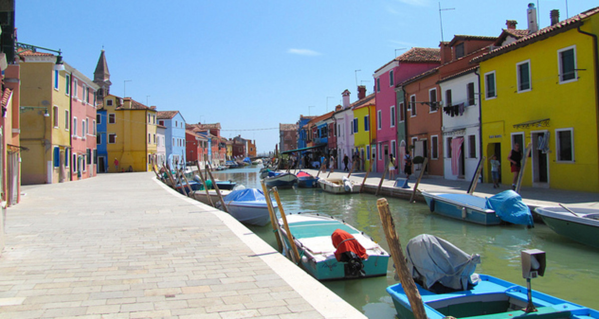 The colors of the island of Burano, Venice