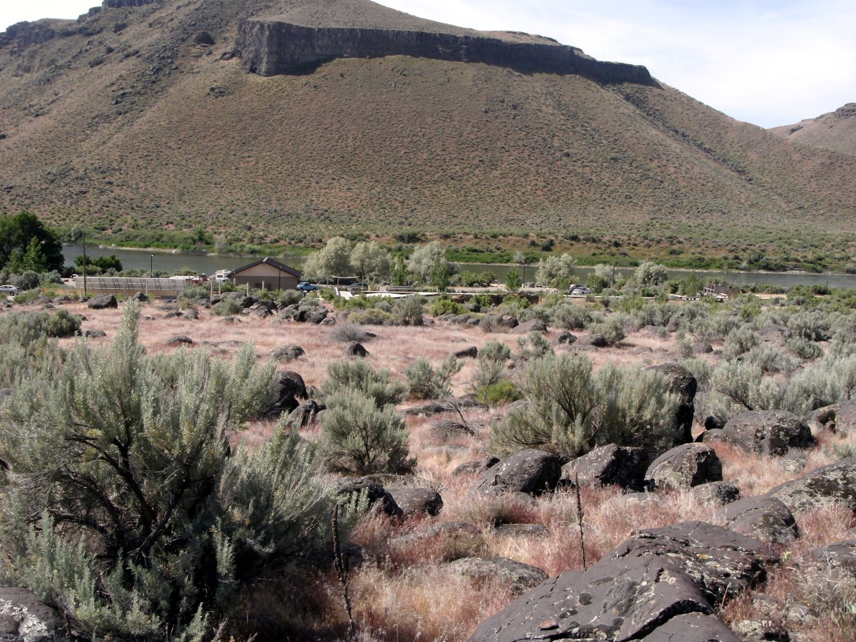 Looking back at the park area from a trail.