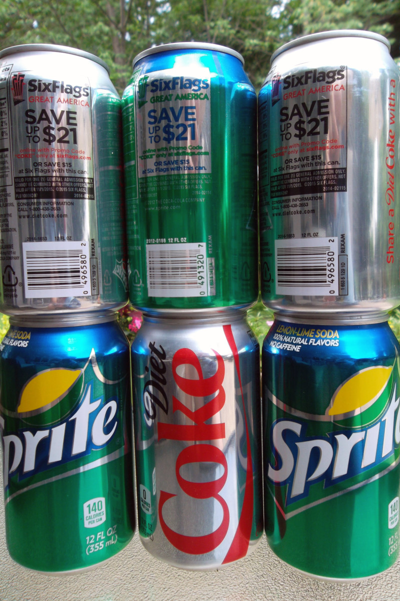 Save your Coca-Cola brand soda can and bring it to the Six Flags ticket booth to get discounts at the park!
