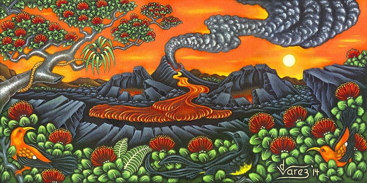 Dietrich Varez is an artist who lives near Kilauea Volcano on the Big Island.