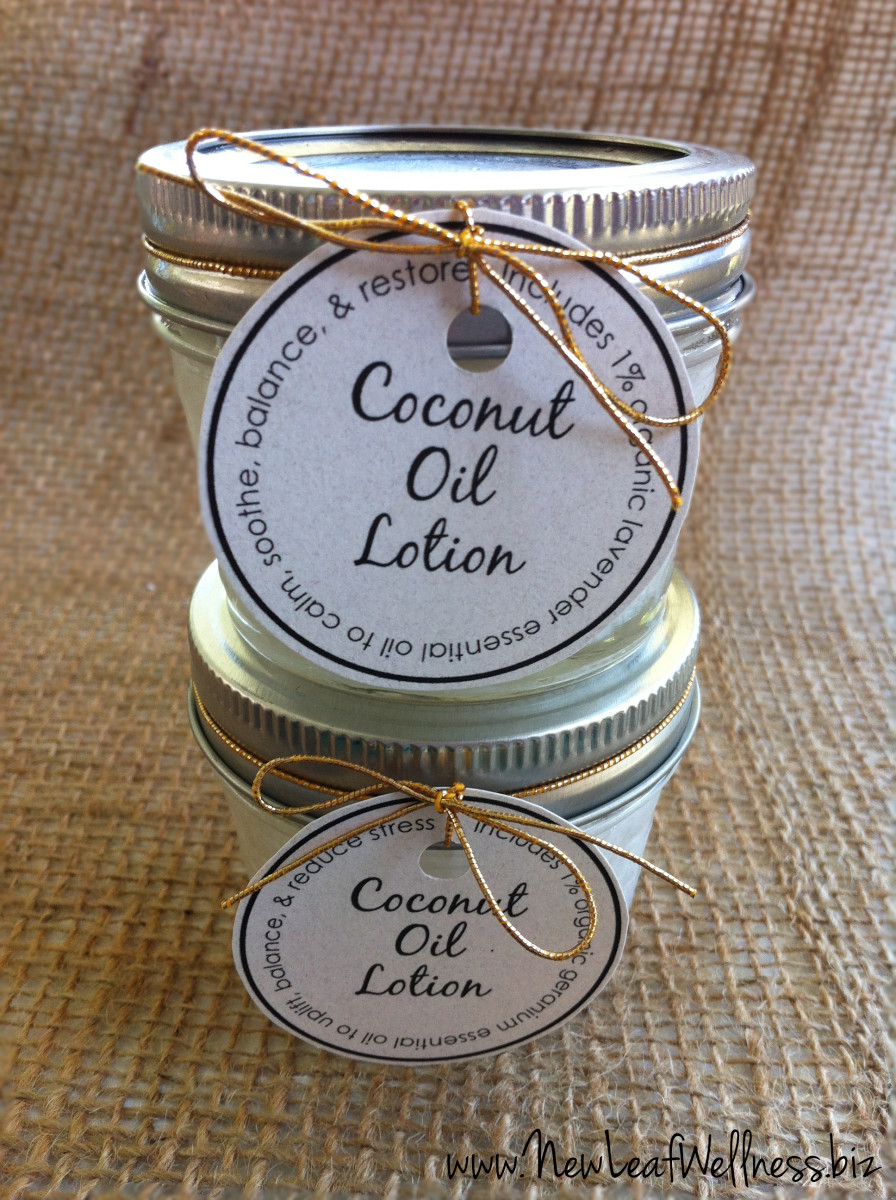 This is a great resource for making your own lotion using coconut oil.