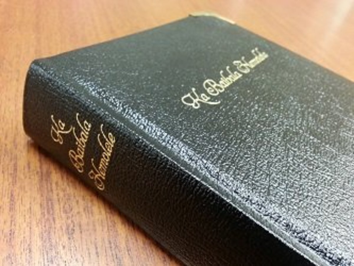For a uniquely Hawaiian gift, the Bible has been translated into the Hawaiian language.