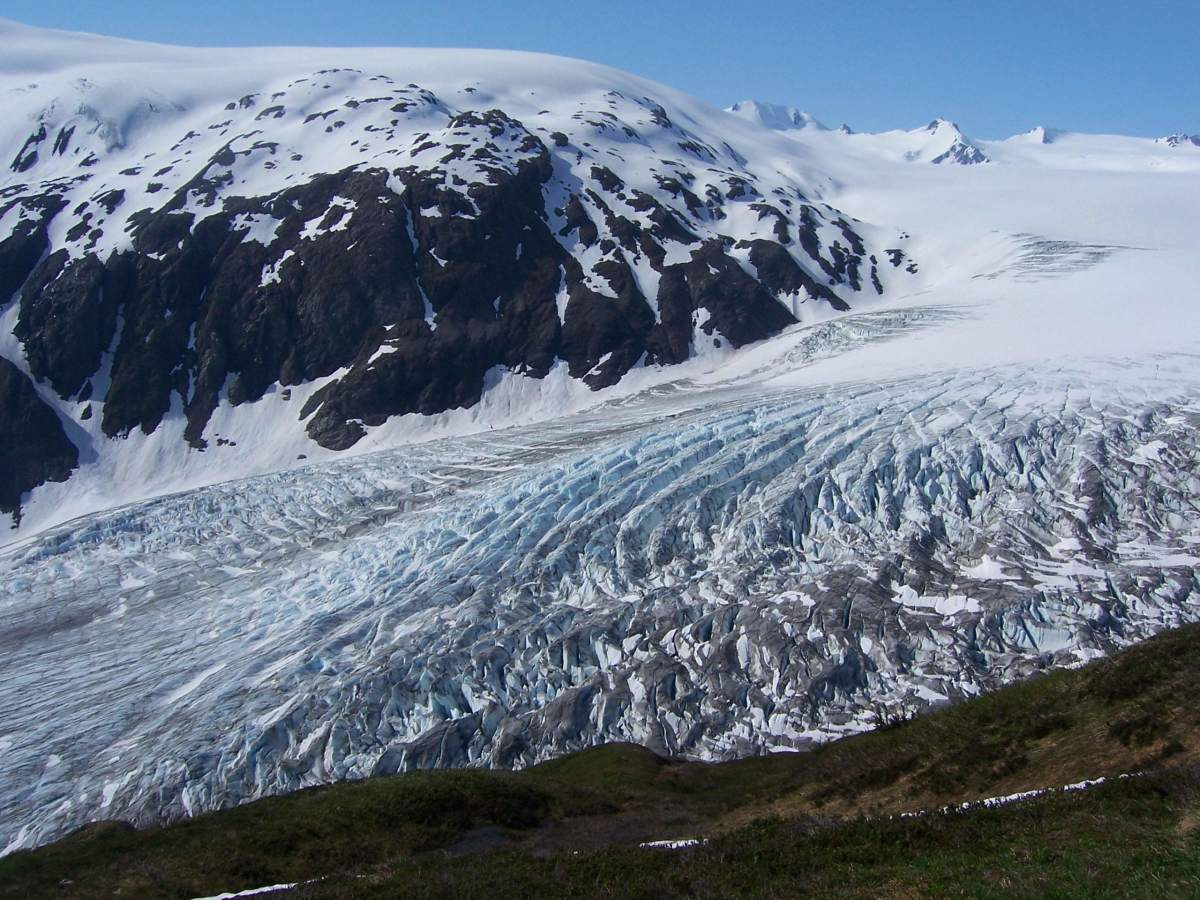 The Harding Ice Field and Exit Glacier.