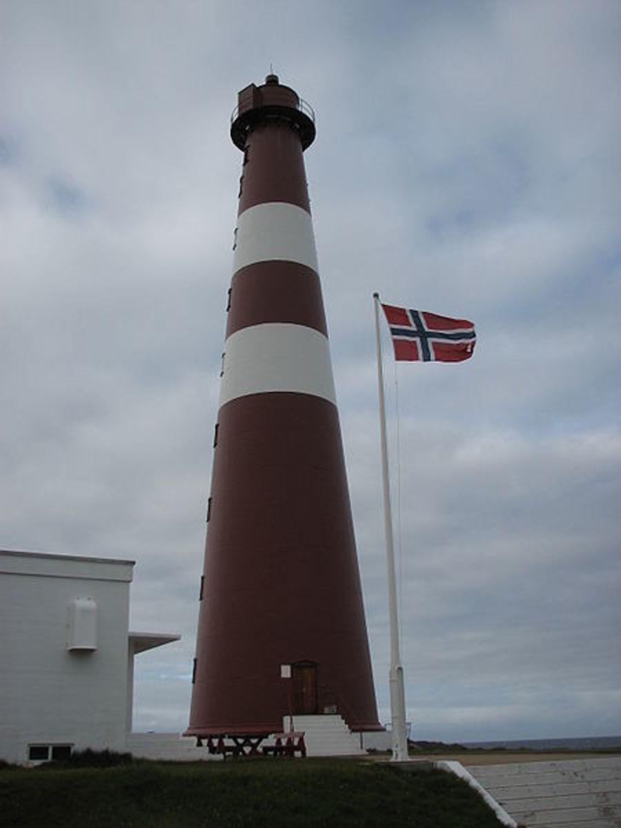 The Slettnes lighthouse.