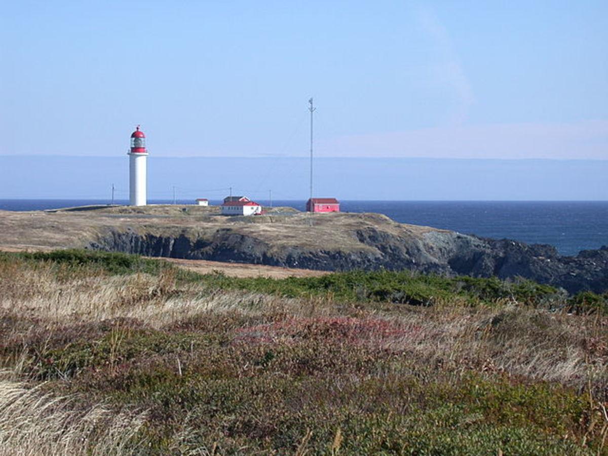 The Cape Race Light Station.