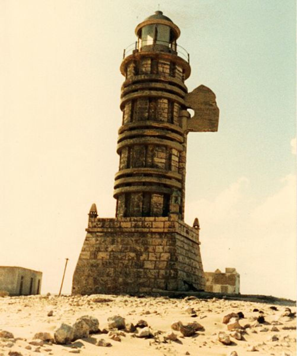 The Cape Guardafui (Ra's Asir) Lighthouse circa 1987.