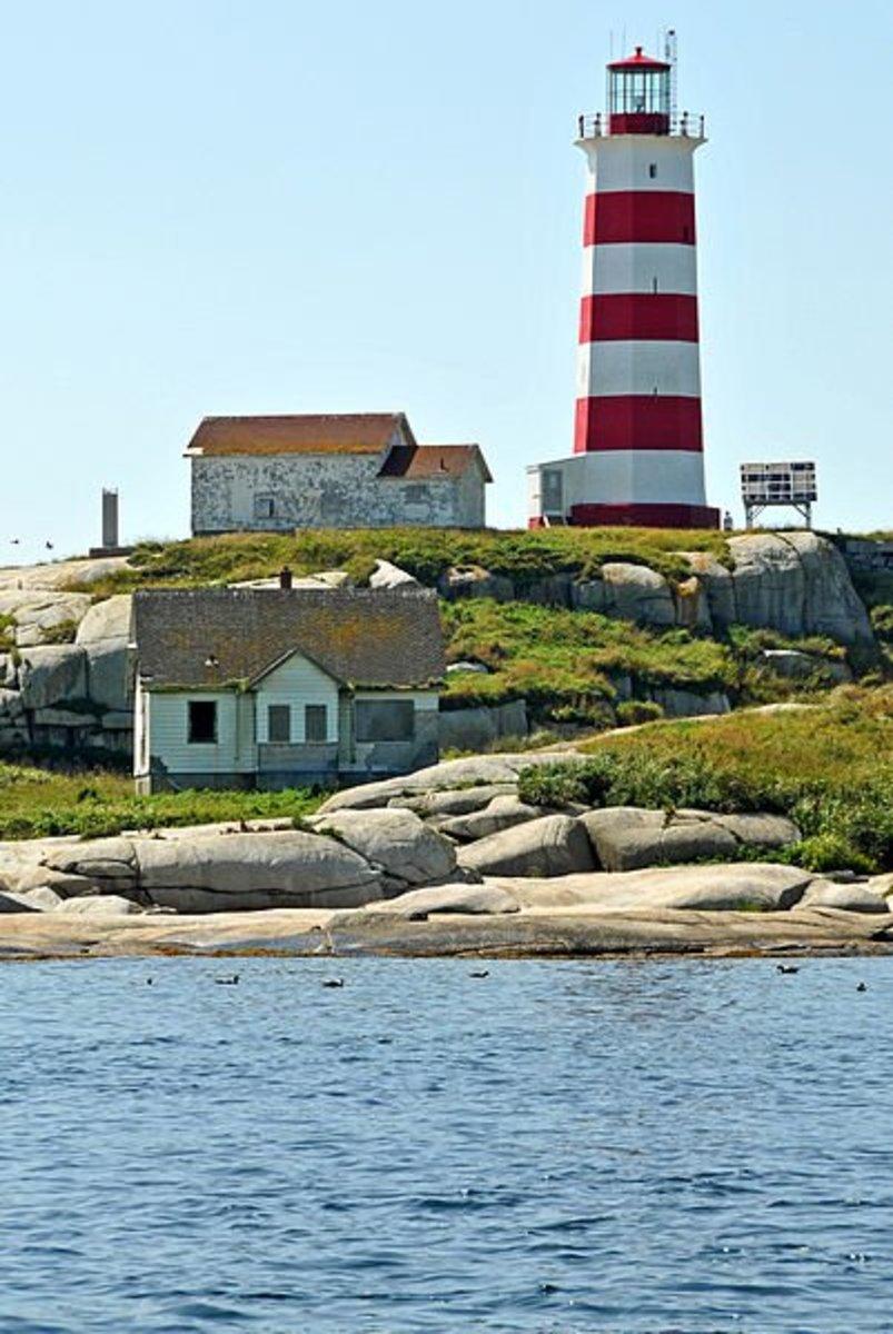 The Sambro Island Lighthouse.