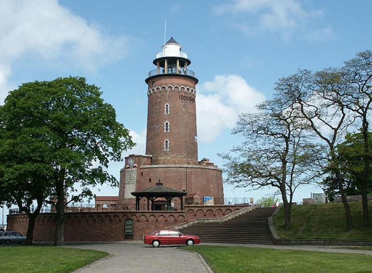 The Kołobrzeg (Kolberg) lighthouse in Kołobrzeg, Poland.