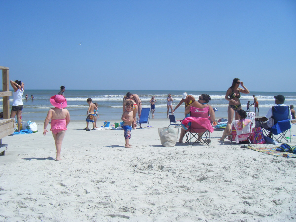 As well as having some excellent sites to visit, eat, and be entertained in the city, you can also sun yourself and swim on the beach.  There are numerous excellent beaches within easy traveling distance of downtown St. Augustine.