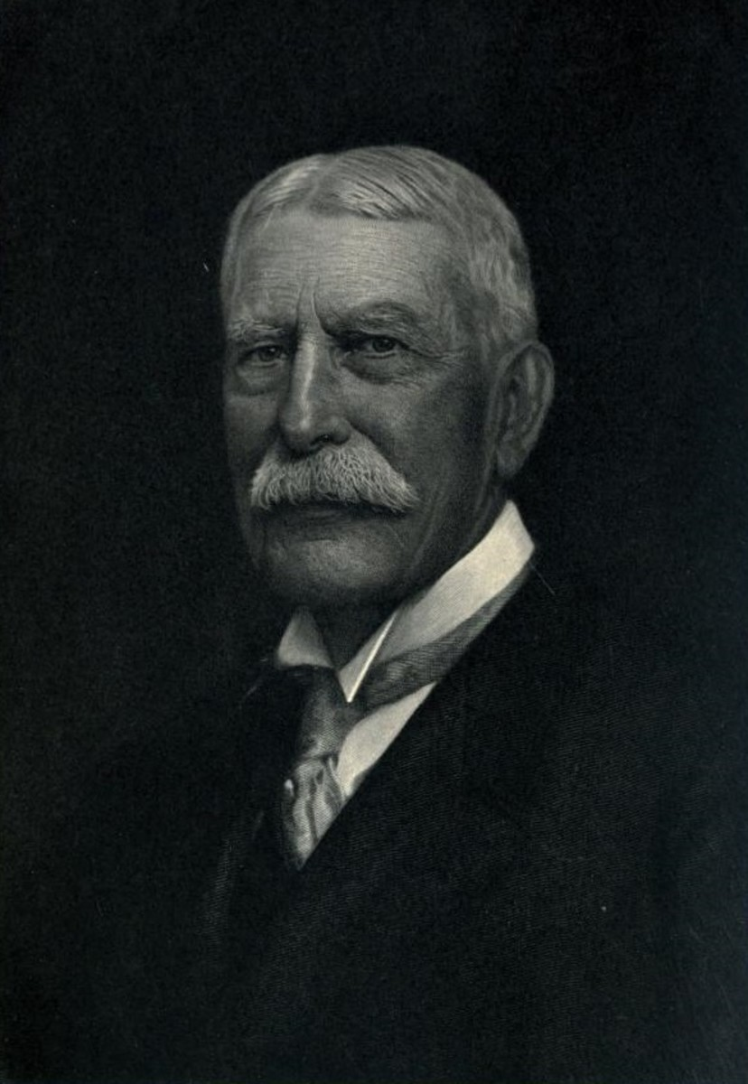 Portrait of American industrialist, Henry Flagler.  Flagler developed the Atlantic coast of Florida and was instrumental in the creation of the Florida East Coast Railway.  He was directly involved in many projects in the city and is buried there.
