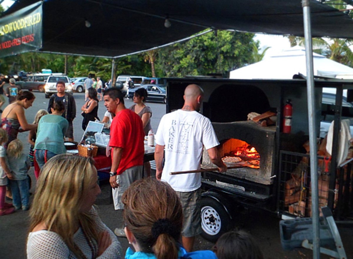 Wood-Fired Pizzas made to order.
