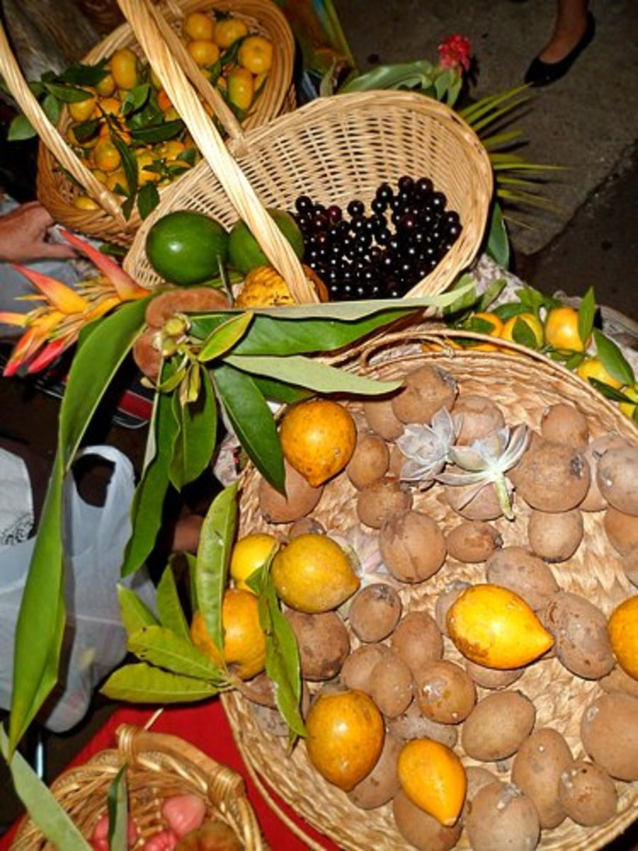 Tasty fruits for sale.