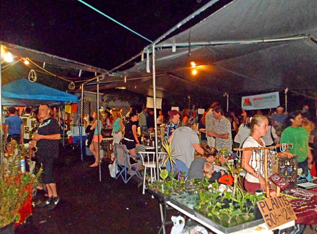 In addition to it's edible offerings, the market also has plants and jewelry.