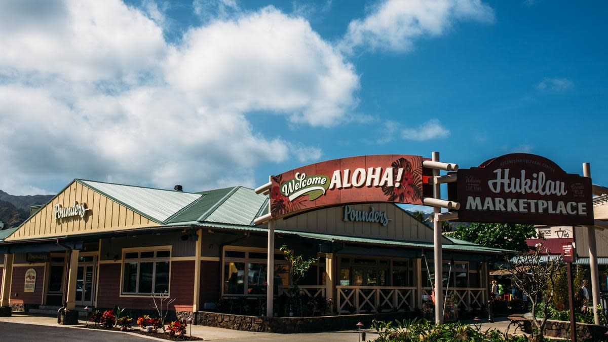 Enjoy lunch or dinner at Hukilau Marketplace, and then shop, shop, shop.