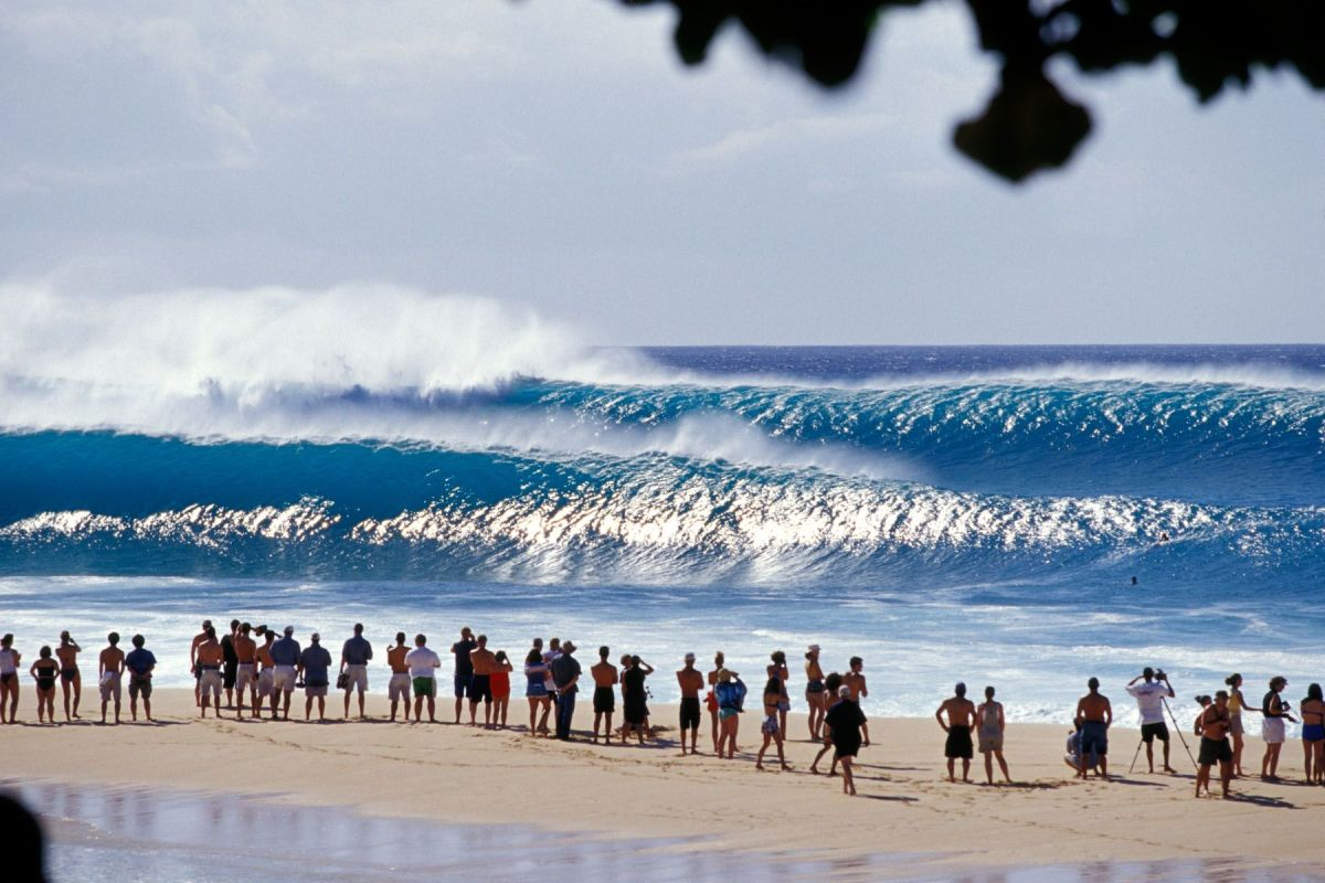 Known as the Pipeline, big wave season is from November through March on the North Shore