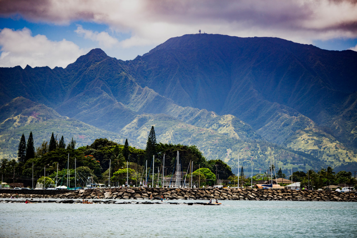 View of Hale'iwa Harbor From the Water