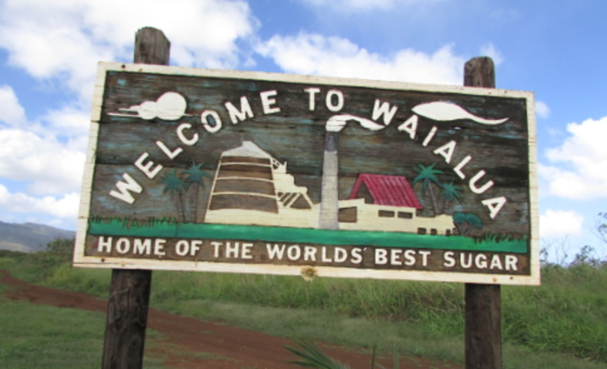 Waialua is an old sugar mill town at the northernmost tip of O'ahu.