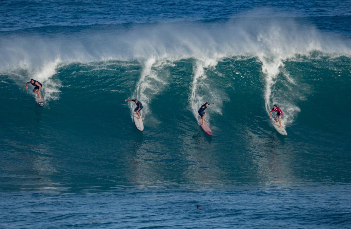 High Surf at Waimea Bay, January 2018