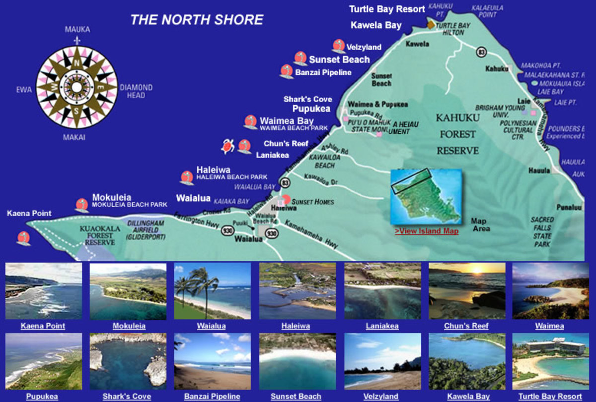 Top 10 Places to Visit in North Shore Oahu – Oahu Tourist Attractions Map
