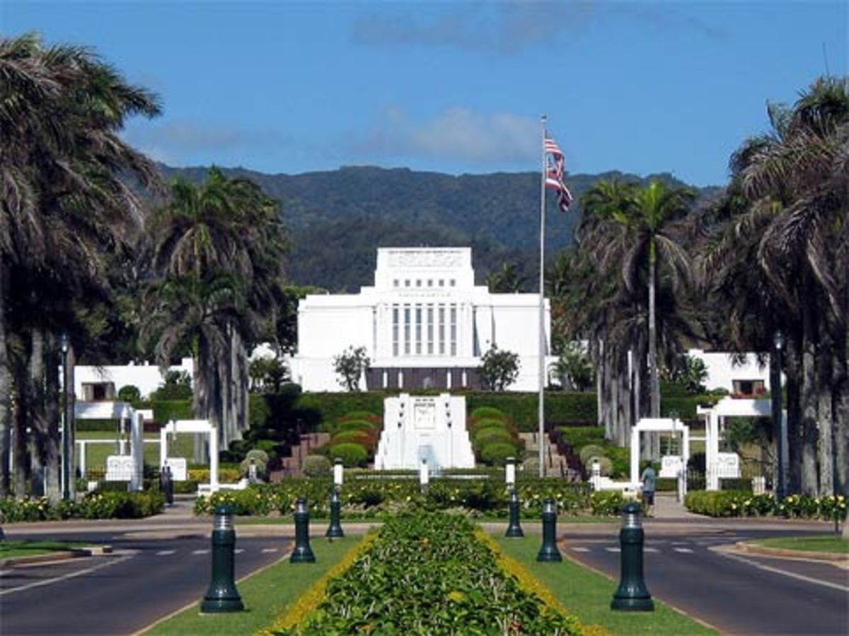 The La'ie Temple, Church of Jesus Christ of Latter-Day Saints also known as the Mormon Church.