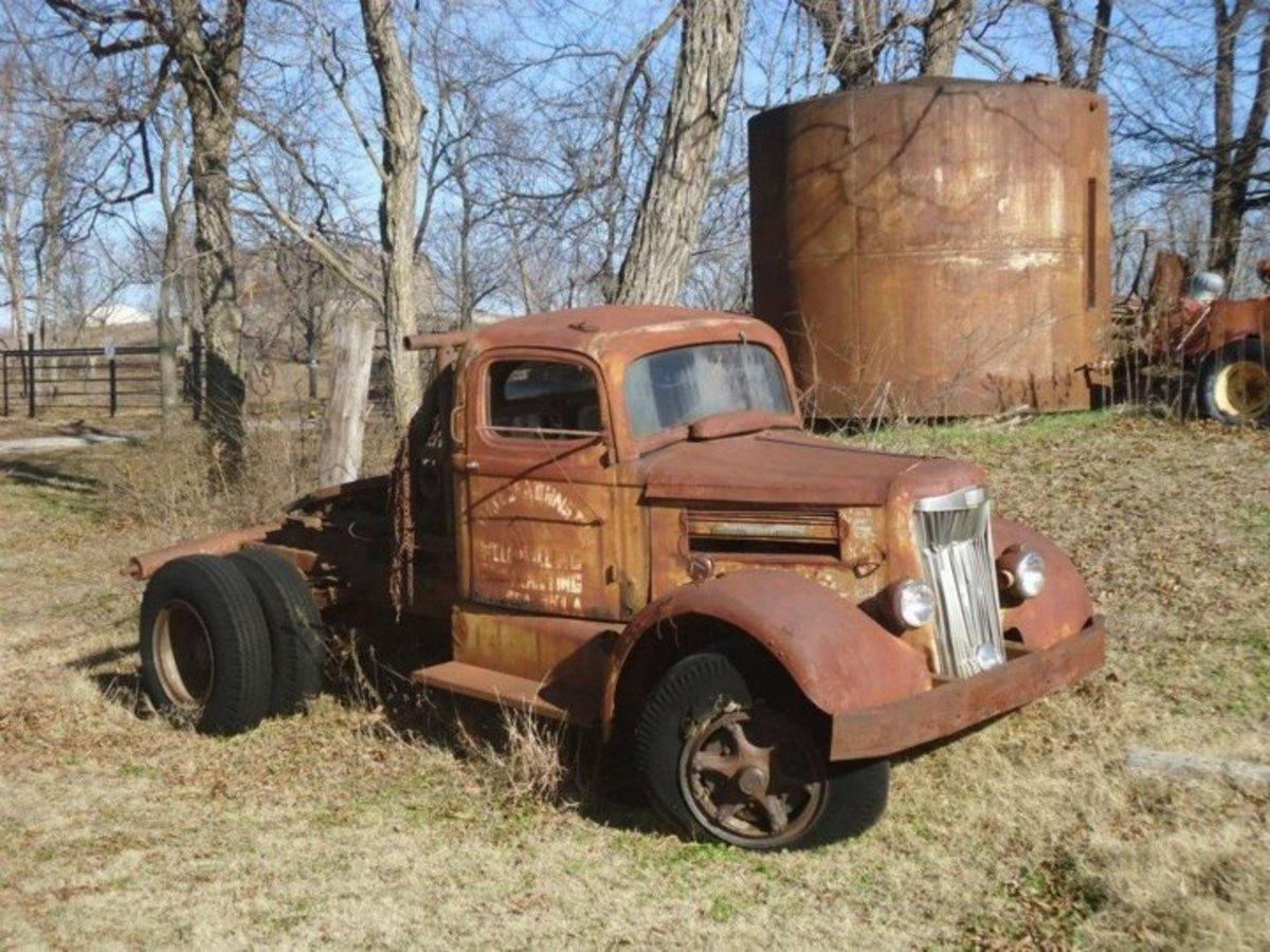 Old truck outside the Waller School