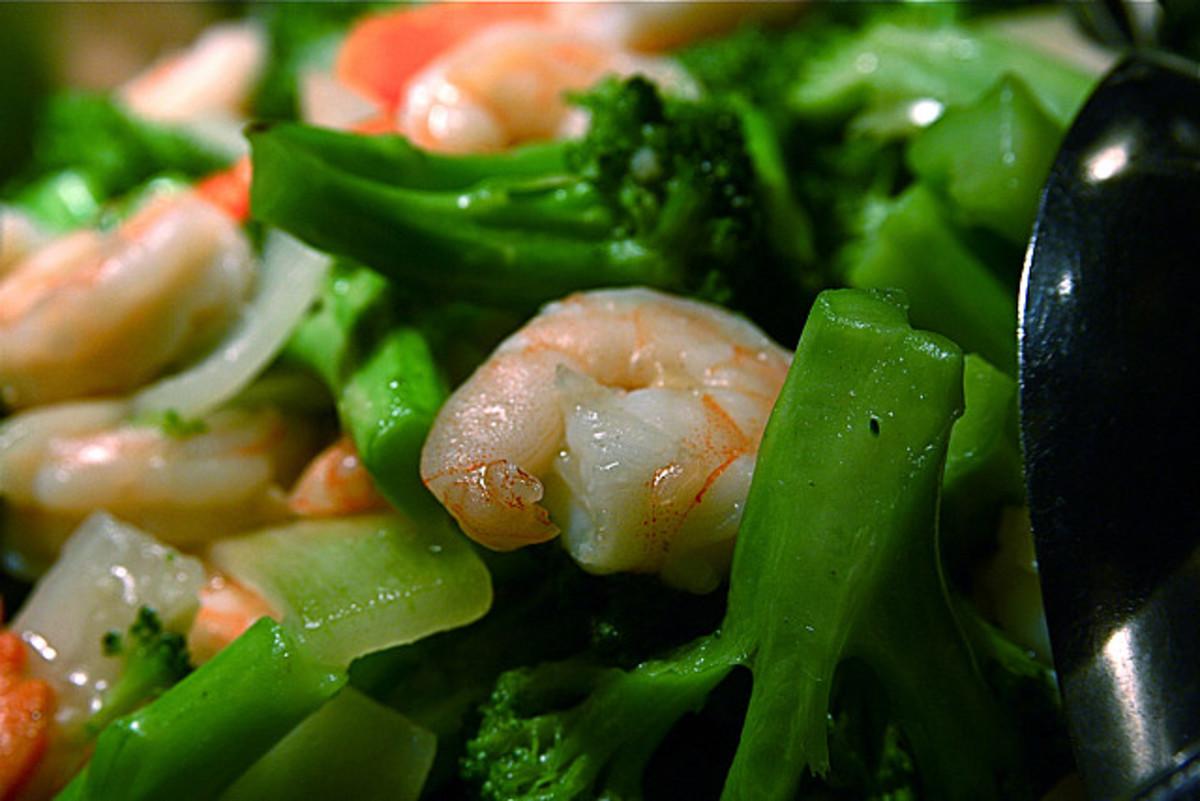 This is vegan! Imitation shrimp :D