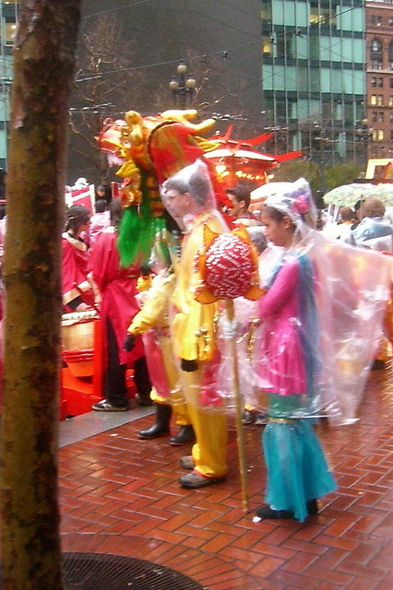 Rain or shine, the festival will go on! And the street vendors make a fortune out of selling those rain ponchos.