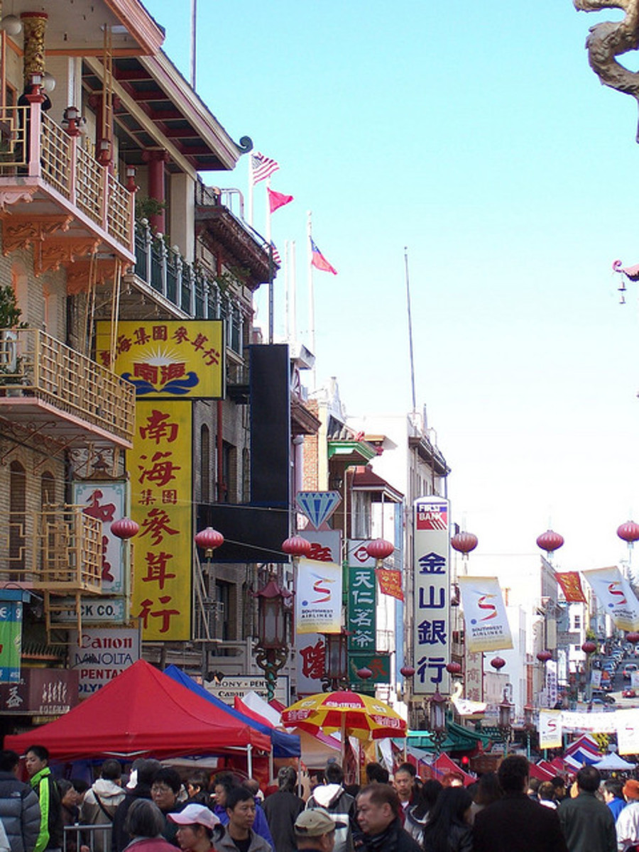 Believe it or not, this picture was taken in San Francisco, not Hong Kong or Guangdong.
